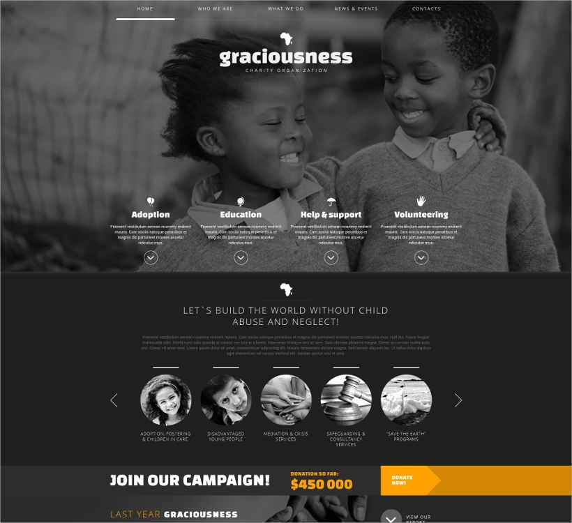 Joomla Child Charity Website Template