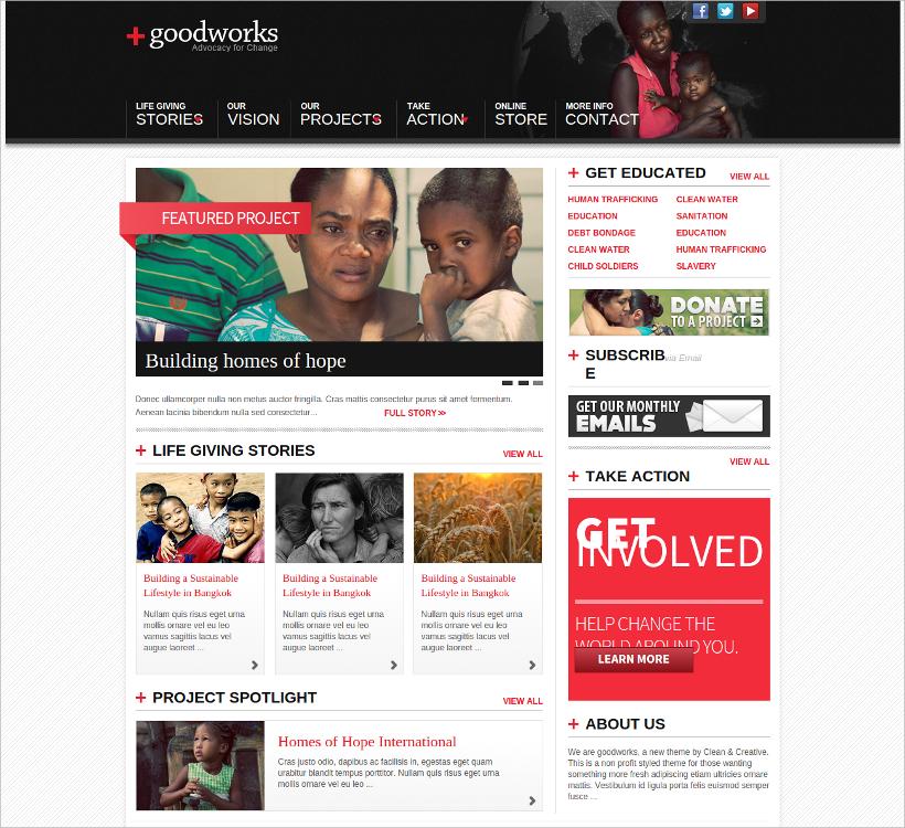 multi page non profit theme