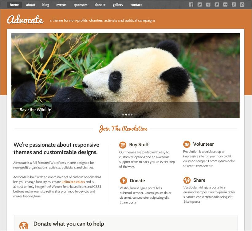 responsive non profit template