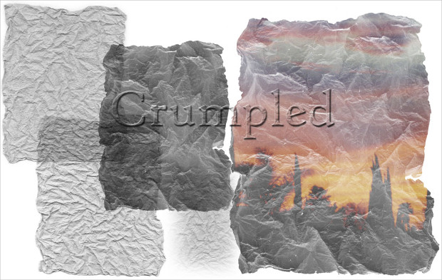 crumpled paper photoshop brush