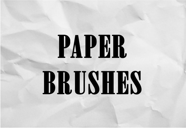 5 high quality paper brushes