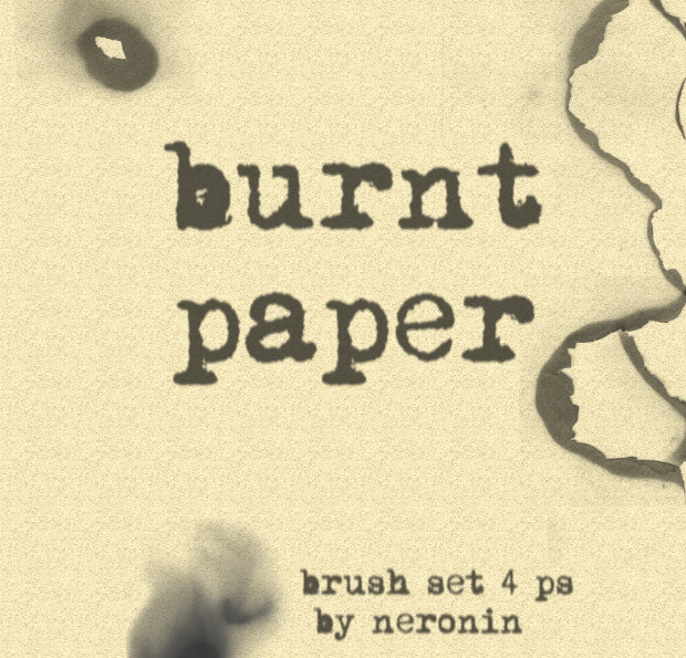 burnt paper ps brush set