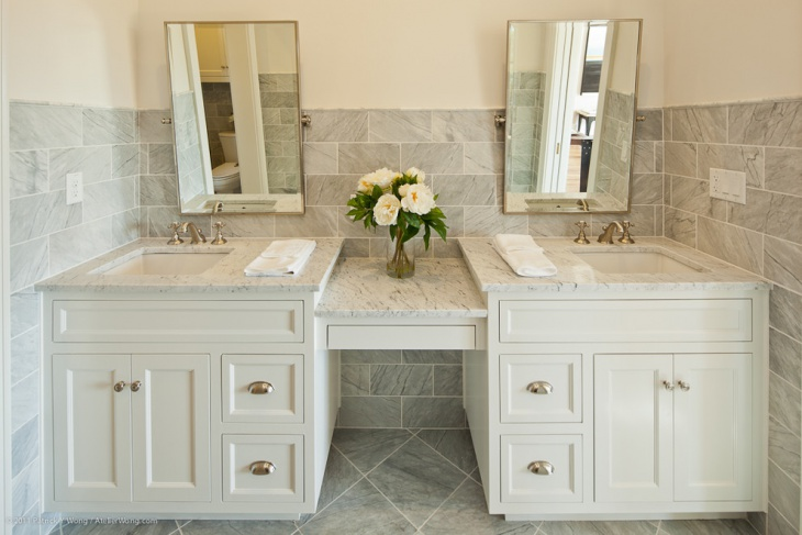 19 bathroom vanity designs decorating ideas design for Pretty small bathroom ideas