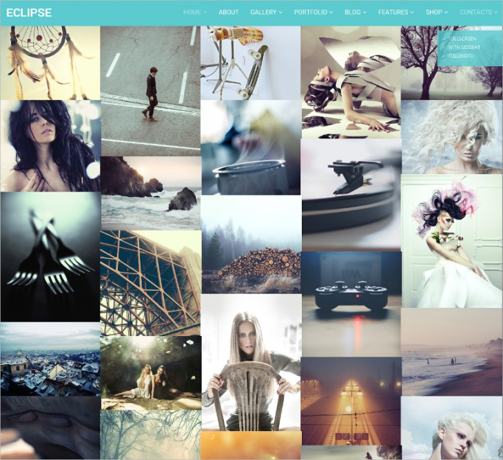 15 best photo website themes templates design trends