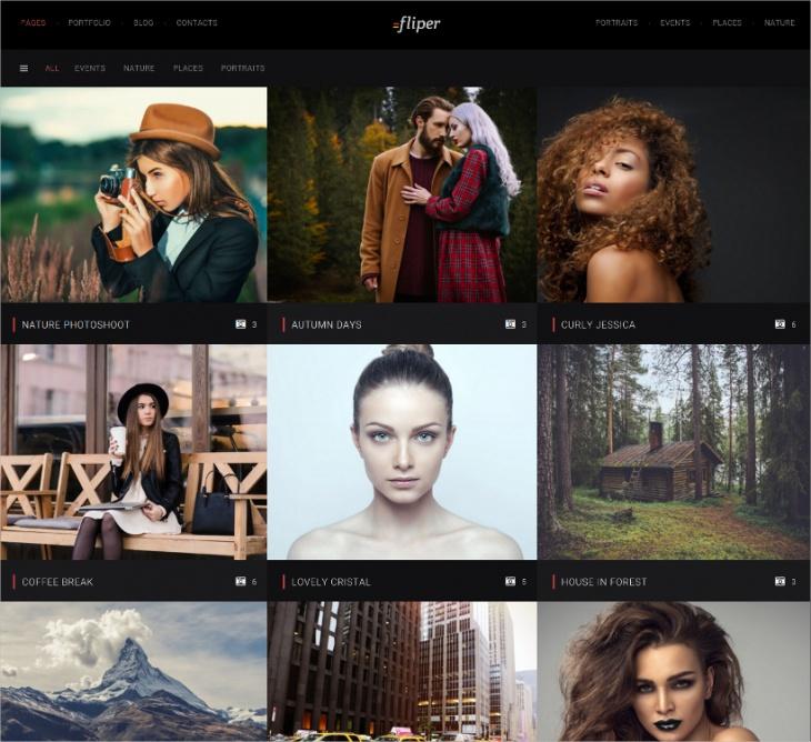 Fliper Fullscreen Photography Template