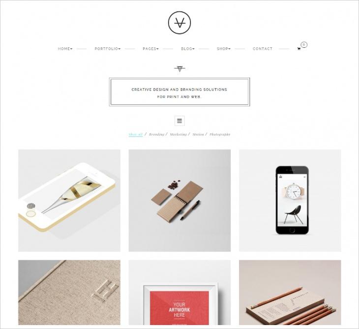 Minimalist Photo Gallery Shop Theme