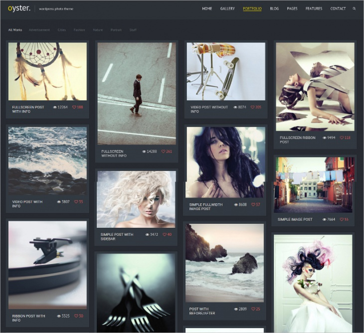 Oyster Photo WordPress Theme