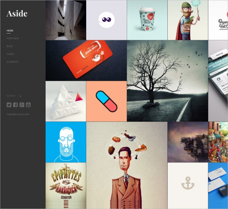 Photo Portfolio Sidebar WP Theme