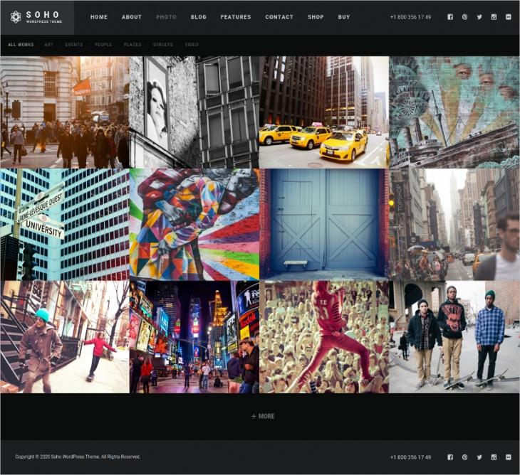 Photo & Video Website Theme