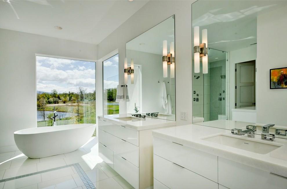 Specious Modern Bathroom Cabinets