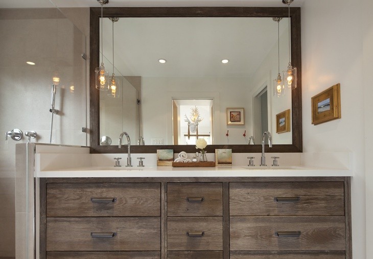 Rustic Bathroom with Cabinets