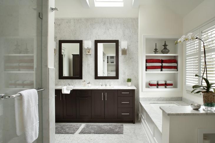 glass bathroom cabinets