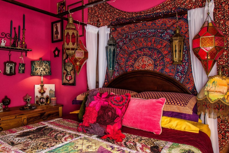 Bohemian Accessories Design In Bedroom
