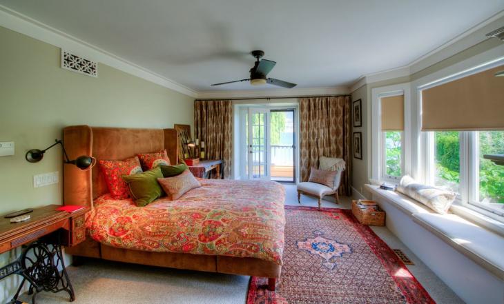 bohemian beach house bedroom idea