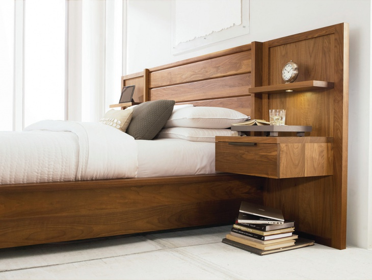 Bedroom with Wood and Storage Drawers