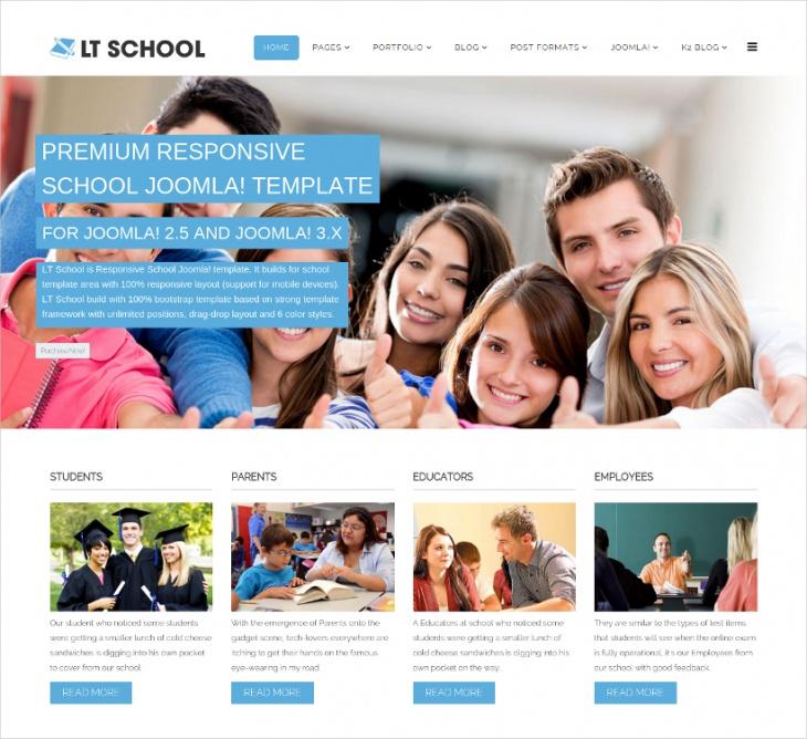 Joomla Responsive School Template