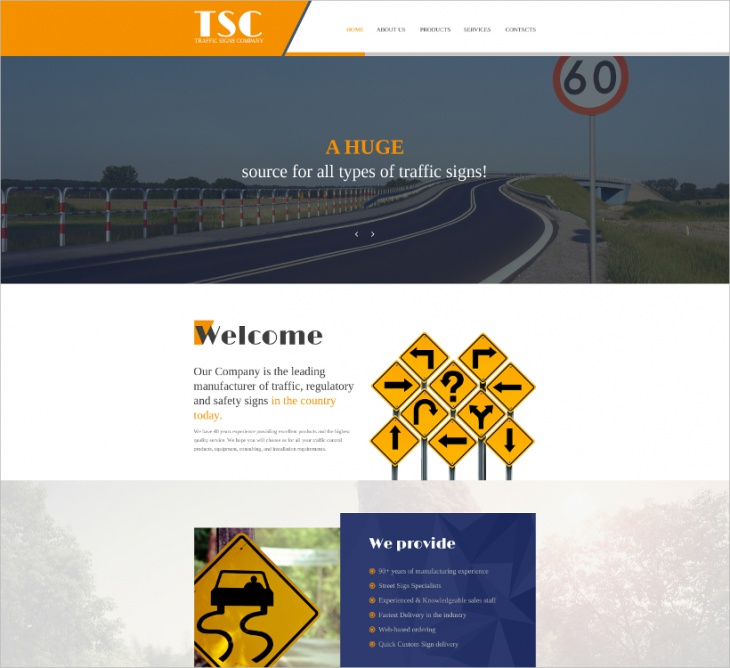 Traffic School Bootstrap Website Template