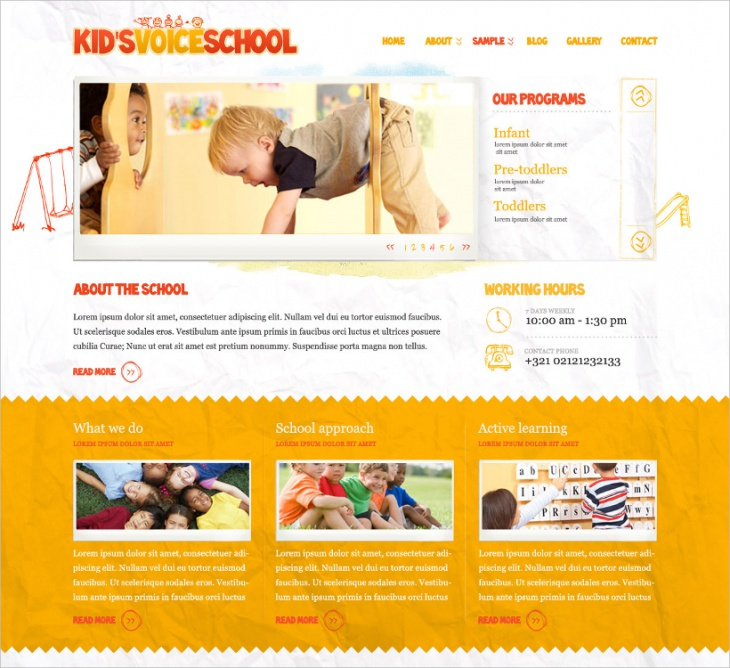 Beautifull School HTML Template