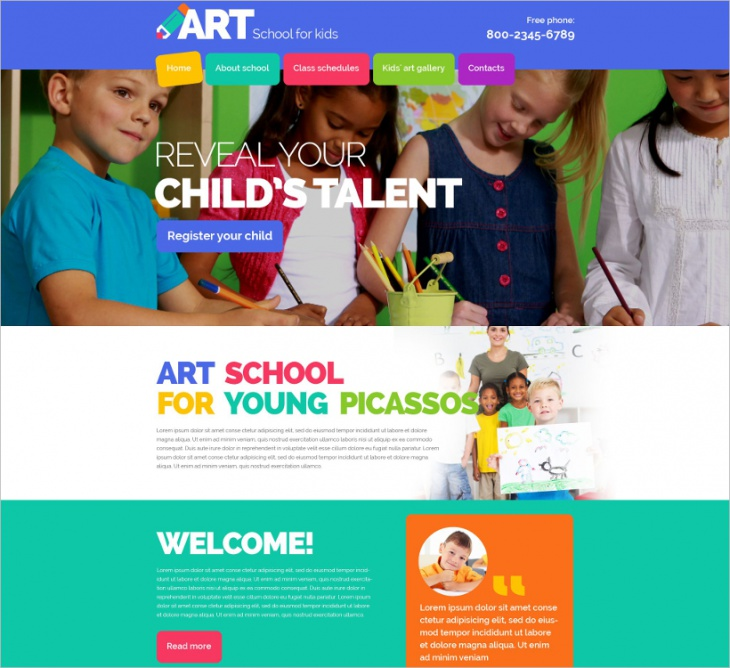 Children Art School Template