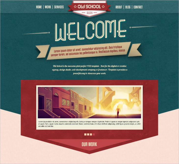 Old School HTML5 One-Page Template