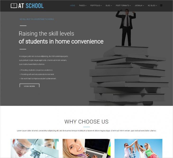 Responsive School Joomla Template