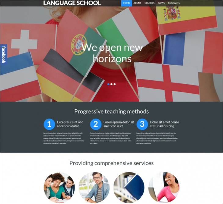 Language School Responsive Website Theme