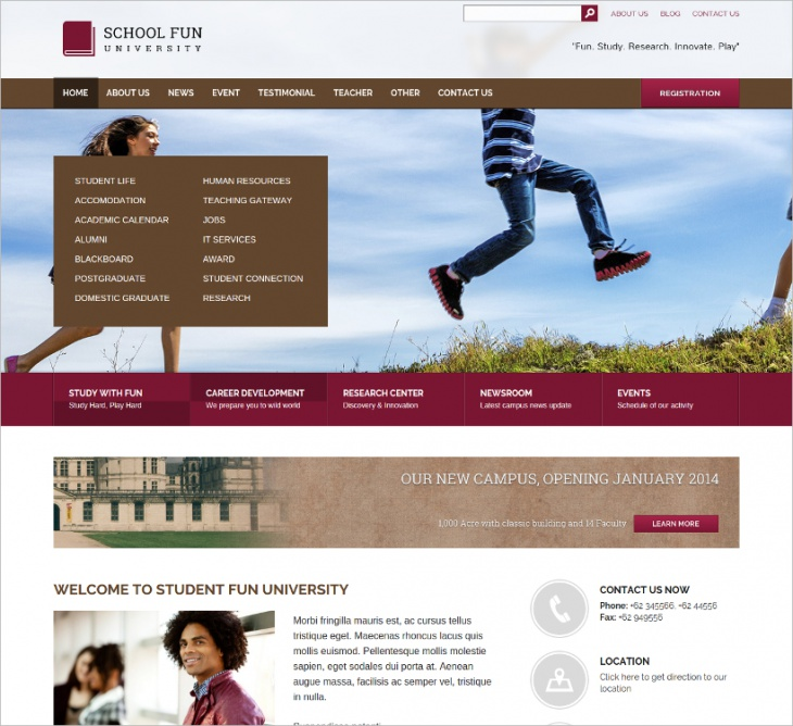University & School WordPress Theme