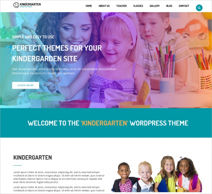 WordPress Theme for Children School