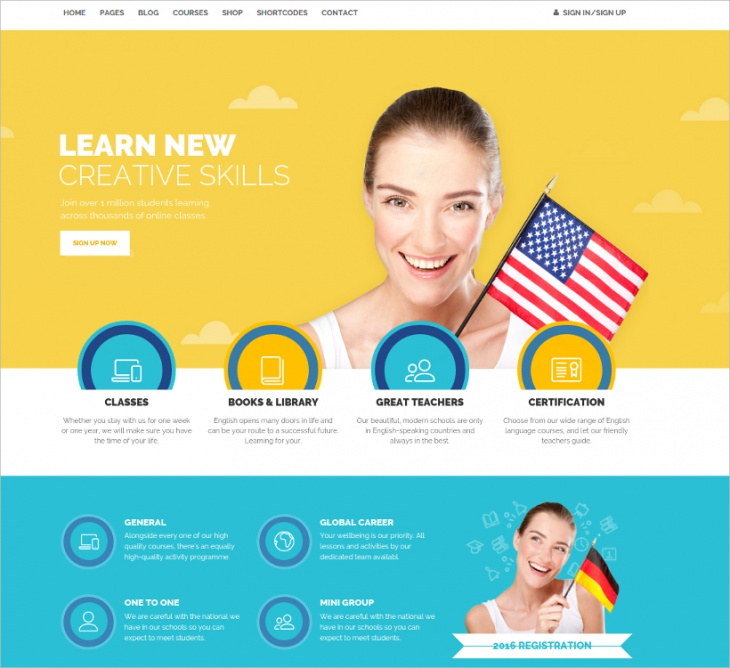 School Education Website Template