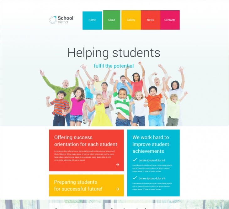 Parallax Scrolling School Template