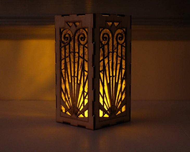 Decorative Handmade Wooden lantern