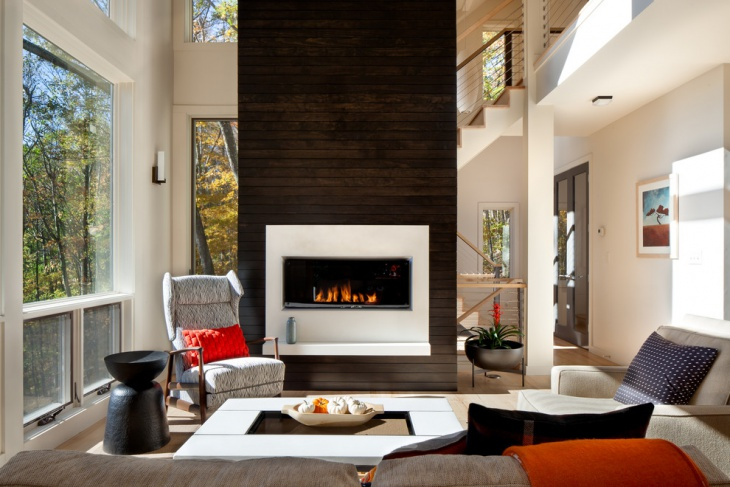 awesome fireplace design in setting room