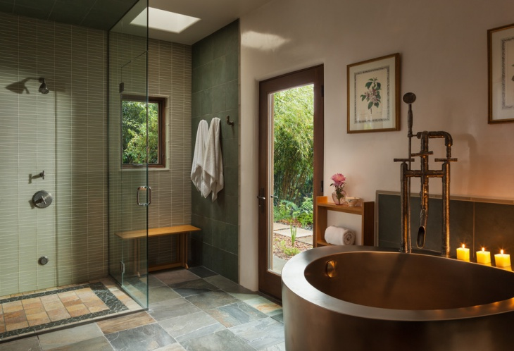 21 japanese bathroom designs decorating ideas design for Asian style bathroom designs