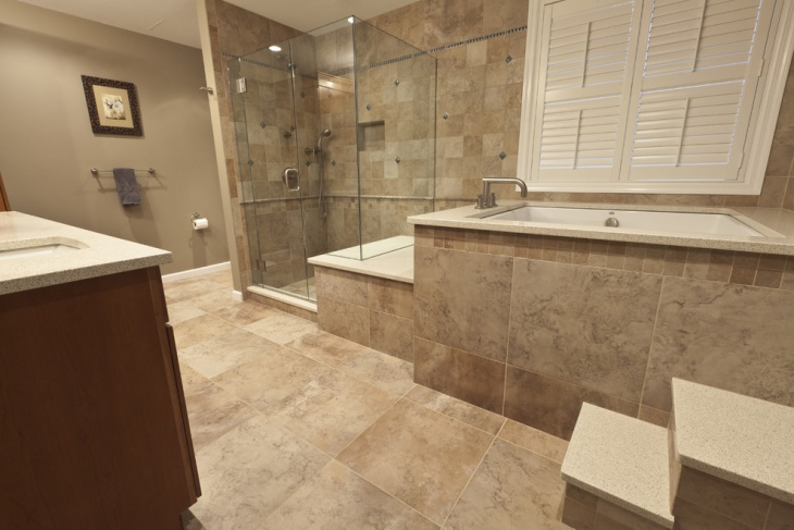 high styled traditional master bathroom