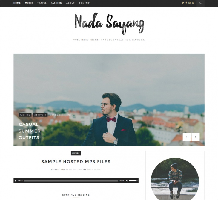 Clean WordPress Blog Theme