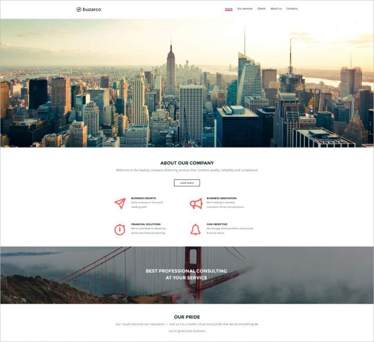 Parallax Business Website Template