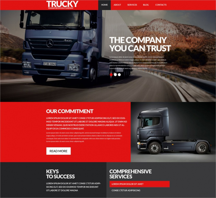 Transportation Business Template