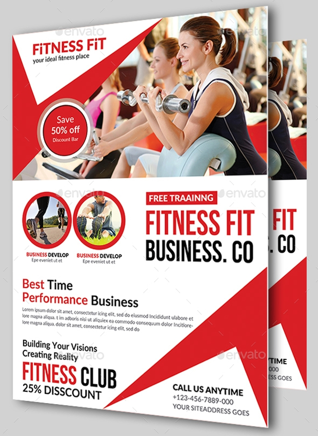 23 awesome collection of gym flyer designs eps psd word