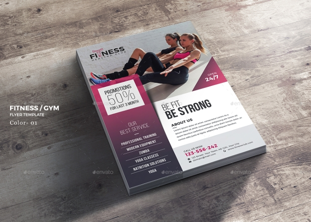 Ladies Gym Flyer Design