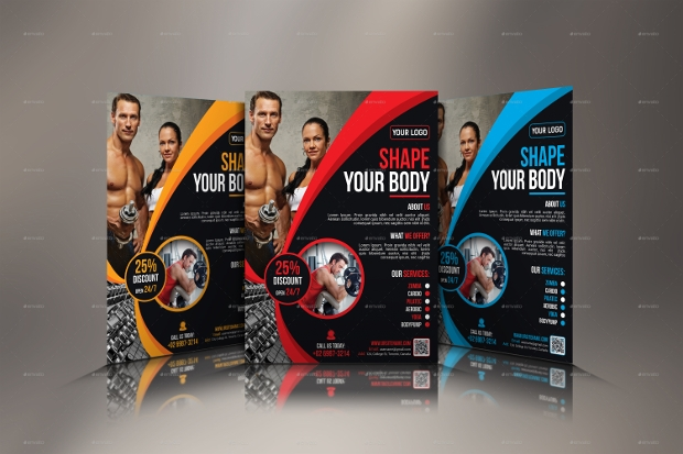 Attractive Design of Gym Flyer