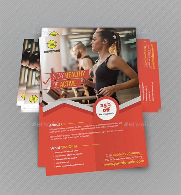 Gym Flyer for Advertisement Purpose