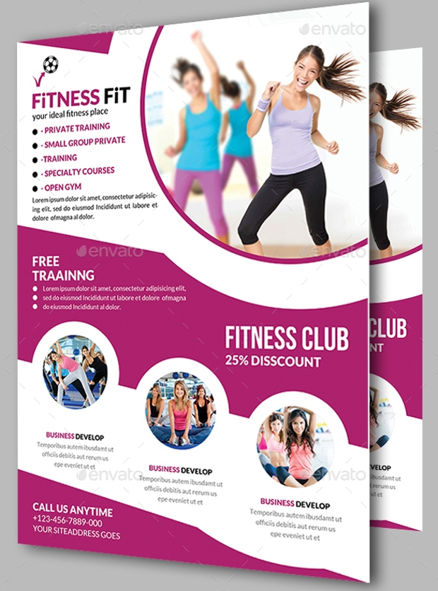 Modern Flyer Design for Fitness