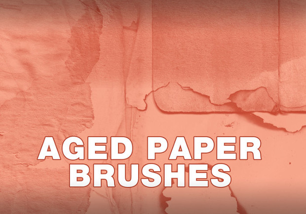 burned and torn paper brushes