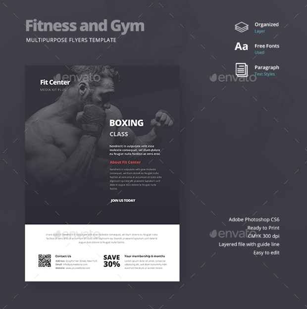 Multipurpose Flyer Design for Gym