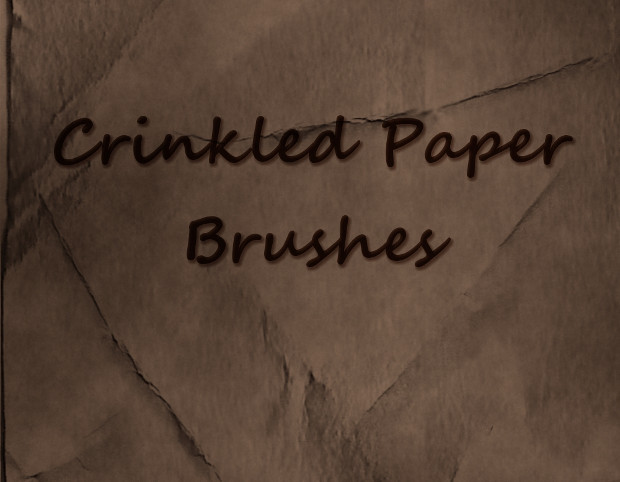 crinkled paper photoshop brushes