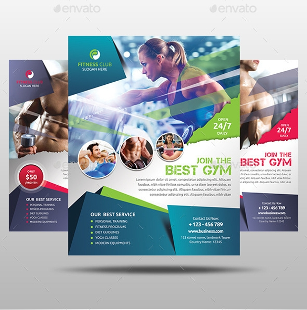 Awesome Gym Flyer Design
