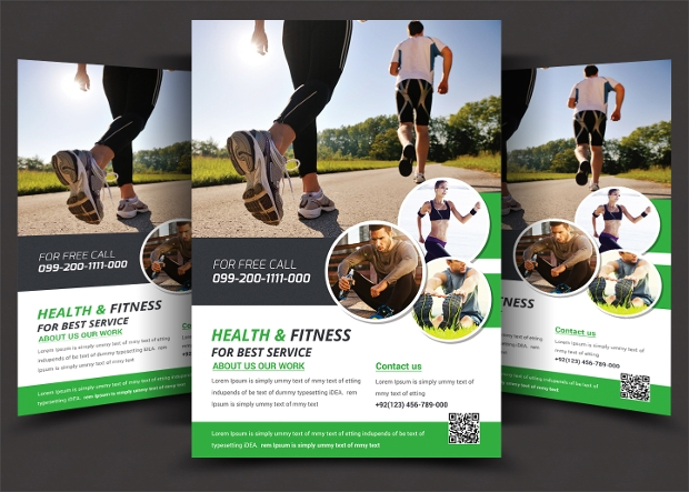 Health and Fitness Gym Flyer