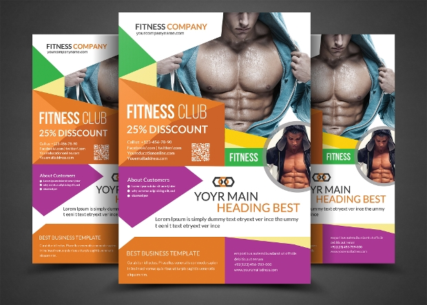 Fitness Club Gym Flyer Design