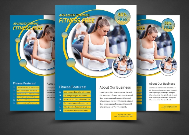 Gym Flyer Template Design