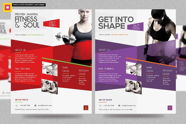 Colorful Flyer Design for Gym